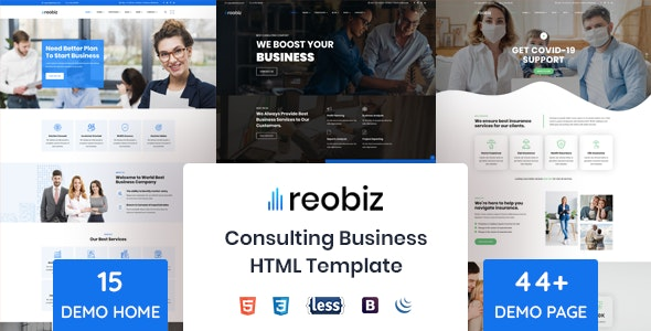 Reobiz - Consulting Business HTML Template - Business Corporate