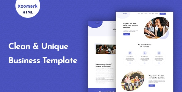 Xzomark – Corporate Business HTML Template - Corporate Site Templates