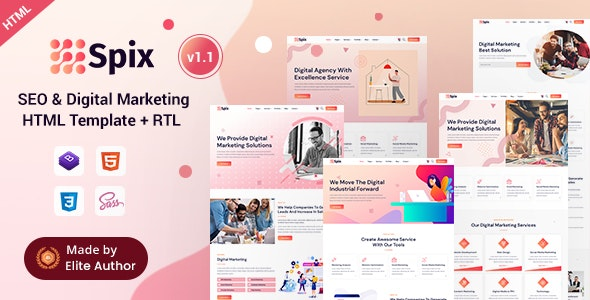Spix - SEO & IT Agency HTML Template - Business Corporate