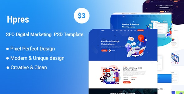 Hpres-SEO Digital Marketing PSD Template - UI Templates