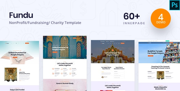 Fundo - Charity PSD Template - Charity Nonprofit