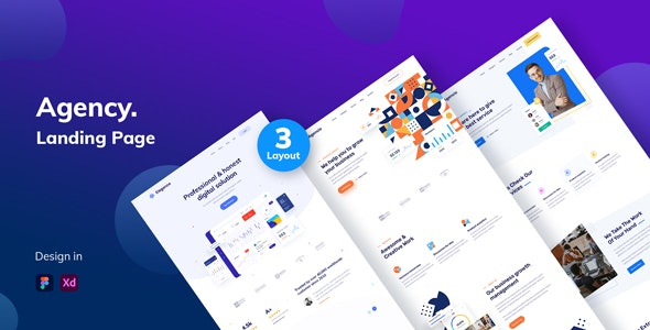 Agency Landing Page UI Kit - Business Corporate
