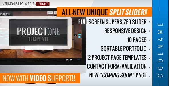 Project One - Responsive Fullscreen Site Template - Creative Site Templates