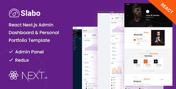 Slabo - React Next.js Admin Dashboard & Personal Portfolio Template