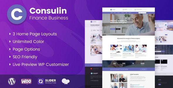 Consulin - Consultant Finance WordPress Theme - Business Corporate