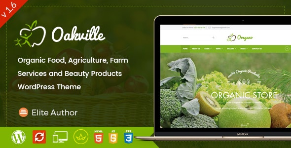 Oakville - Organic Food and Beauty Products WP Theme - Food Retail