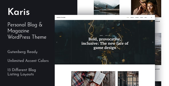 Karis - Personal Blog & Magazine WordPress Theme - Personal Blog / Magazine