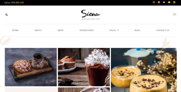 Siena - Cafe and Coffee Shop Template Kit