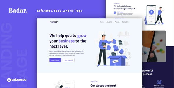 Badar — Software & SaaS Unbounce Landing Page