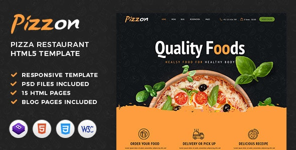 Pizzon | Pizza Restaurant HTML Template - Restaurants & Cafes Entertainment