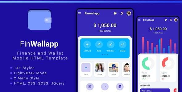 Finwallapp Mobile HTML template - Mobile Site Templates