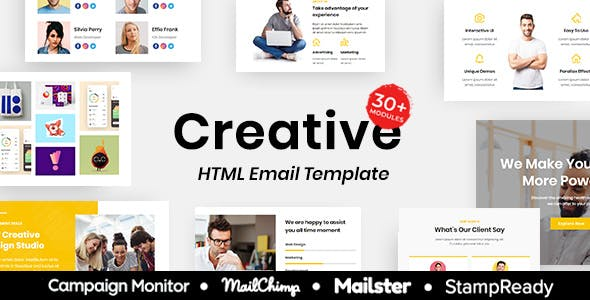 Creative - Multipurpose Responsive Email Template 30+ Modules Mailchimp