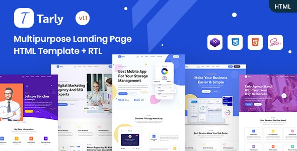 Tarly - Multipurpose Landing Page HTML Template - Technology Site Templates