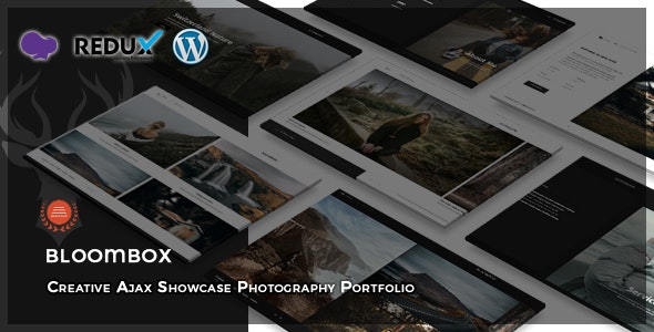 Bloombox - Ajax Showcase Photography WordPress Theme - Photography Creative