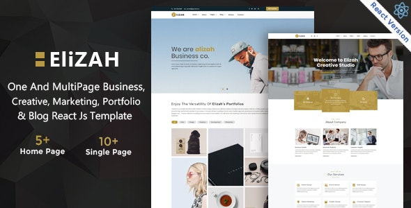 Elizah – Business And Corporate  React JS Responsive Website - Business Corporate
