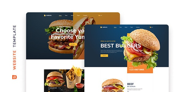 Burgos - Street Food HTML5 Template - Food Retail