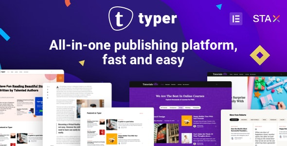 Typer v1.9.4 NULLED – awesome WP multi-author blog and posting theme