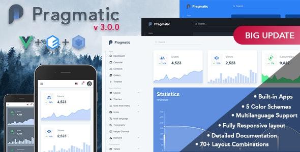Pragmatic - Vue.js Admin Template - Admin Templates Site Templates