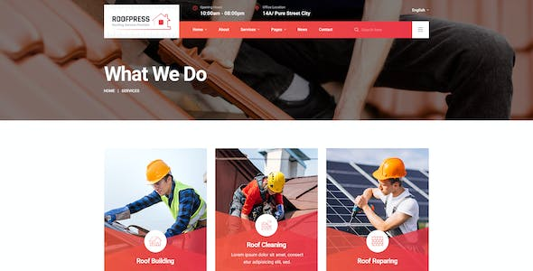 RoofPress - Roofing Services PSD Template