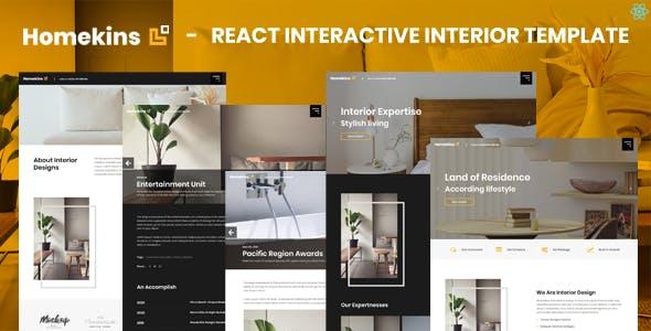 Homekins - React Interactive Interior Template