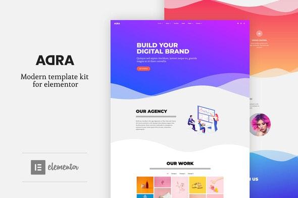 Adra - Modern & Creative Elementor Template Kit - Creative & Design Elementor