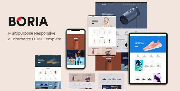 Boria - Multipurpose Responsive eCommerce HTML Template - Shopping Retail