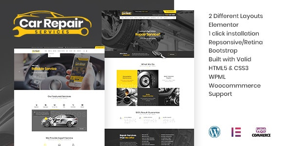 Car Repair Services & Auto Mechanic WordPress Theme + RTL - Business Corporate