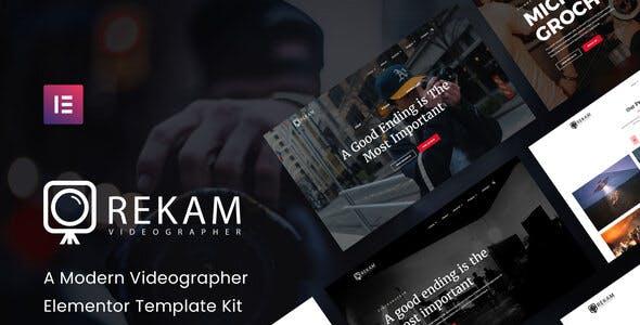 Rekam Kit - Modern Videographer Elementor Template Kit