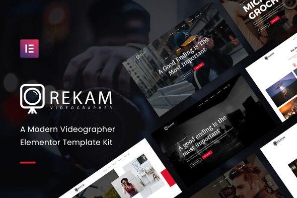 Rekam Kit - Modern Videographer Elementor Template Kit - Photography Elementor