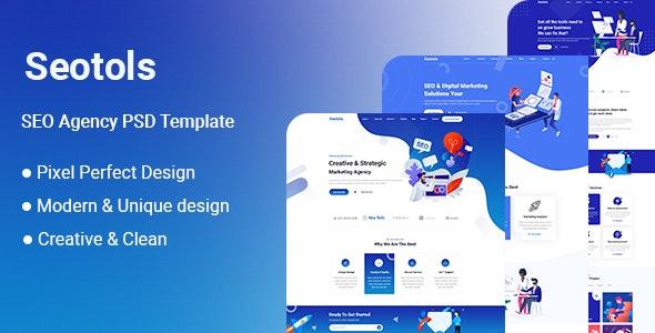 Seotols - SEO Agency PSD Template - UI Templates
