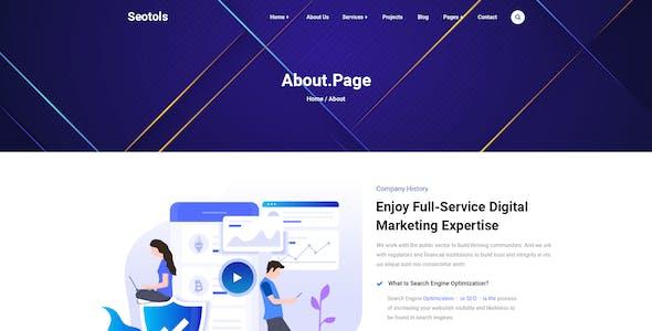 Seotols - SEO Agency PSD Template