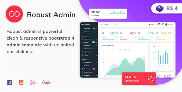 Robust - Premium Bootstrap 4 Admin, Dashboard & WebApp Kit Template - Admin Templates Site Templates