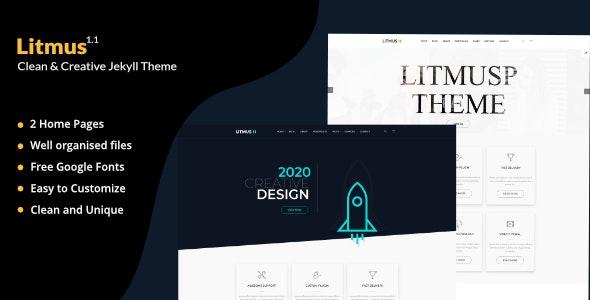 Litmus - Clean Corporate And Blogging Jekyll Theme - Jekyll Static Site Generators