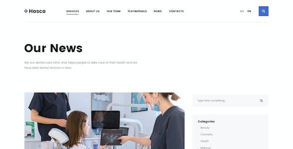 Hosco - Dentist & Medical Adobe XD Template