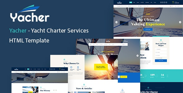 Yacher - Yacht Charter Services HTML Template - Business Corporate