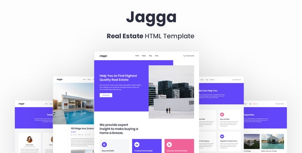 Jagga – Real Estate HTML Template - Business Corporate