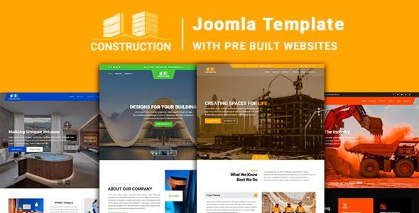 Construction - Joomla Template with Pre Built Websites