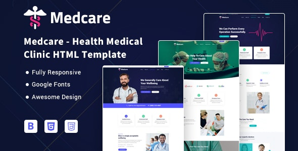 Medcare - Health Medical Clinic HTML Template - Health & Beauty Retail