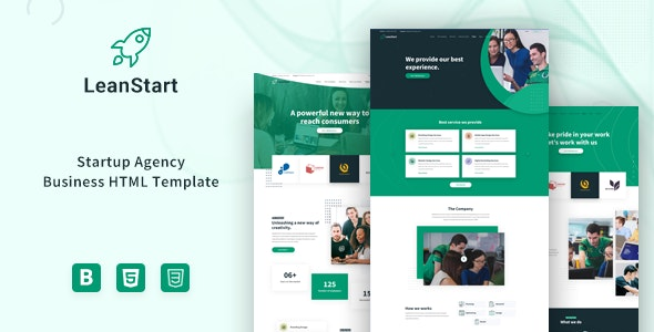 LeanStart - Startup Agency Business HTML Template - Software Technology