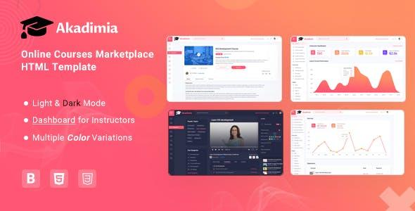 Akadimia - Online Courses Marketplace HTML Template