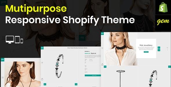 Gem – Multipurpose Responsive Shopify Theme - Fashion Shopify