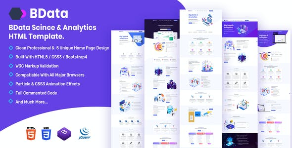 BData - Big Data & Analytics HTML Template