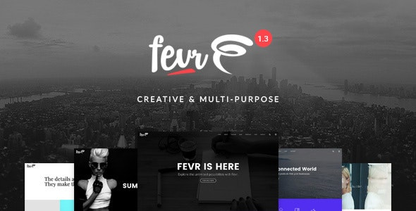 Fevr - Creative MultiPurpose Theme - Creative WordPress