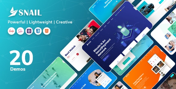 SNAIL - Creative Multipurpose HTML5 Templates - Creative Site Templates