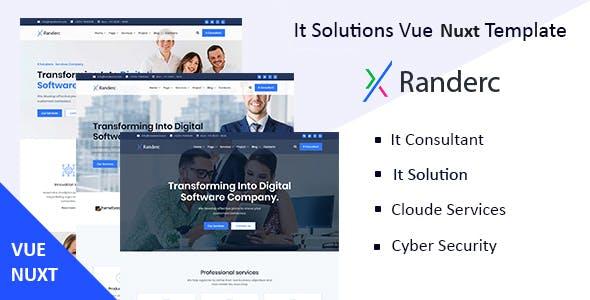 Randerc- Vue Nuxt It Solutions & Services Company Template