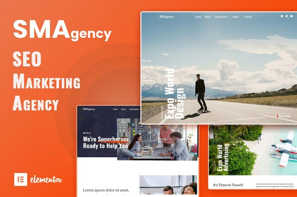 SMAgency - SEO Marketing Agency Elementor Template Kit - Business & Services Elementor