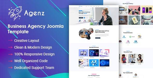Agenz - Creative Business Agency Joomla Template