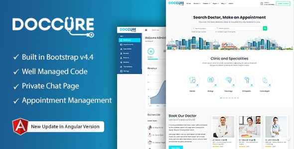 Doccure - Doctor Appointment Booking System Bootstrap Angular Template (Angular) - Health & Beauty Retail