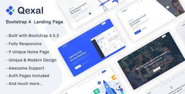 Qexal - Landing Page Template - Landing Pages Marketing