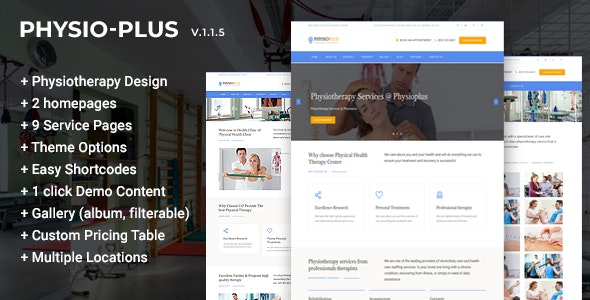 Physio Plus - Physiotherapy & Physical Therapy WordPress Theme - Health & Beauty Retail